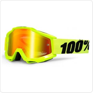 Мото очки 100% ACCURI Moto Goggle Fluo Yellow - Mirror Gold Lens