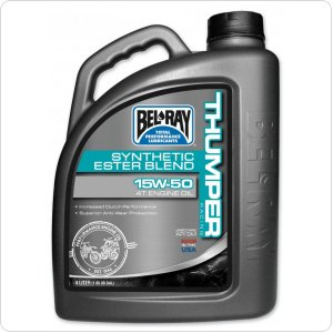Мото масло моторное Bel Ray THUMPER RACING SYNTHETIC ESTER 4T 10W-40 4л