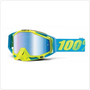 Мото очки 100% RACECRAFT Goggle Barbados - Mirror Blue Lens