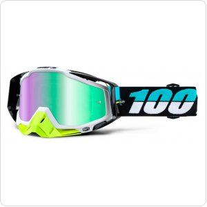 Мото очки 100% RACECRAFT Goggle St Barth - Mirror Green Lens