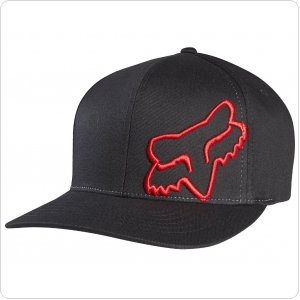 Кепка FOX FLEX 45 FLEXFIT HAT [BLK/RD]