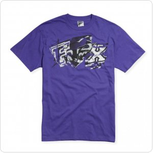 Футболка FOX Archives s/s Tee сиреневая