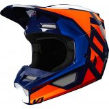Детский мотошлем FOX YTH V1 PRIX HELMET [ORANGE BLUE]