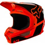 Детский мотошлем FOX YTH V1 REVN HELMET [Flo Orange]