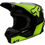 Детский мотошлем FOX YTH V1 REVN HELMET [Flo Yellow]