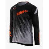 Вело джерси Ride 100% R-Core SUPRA DH LS Jersey Black/Grey